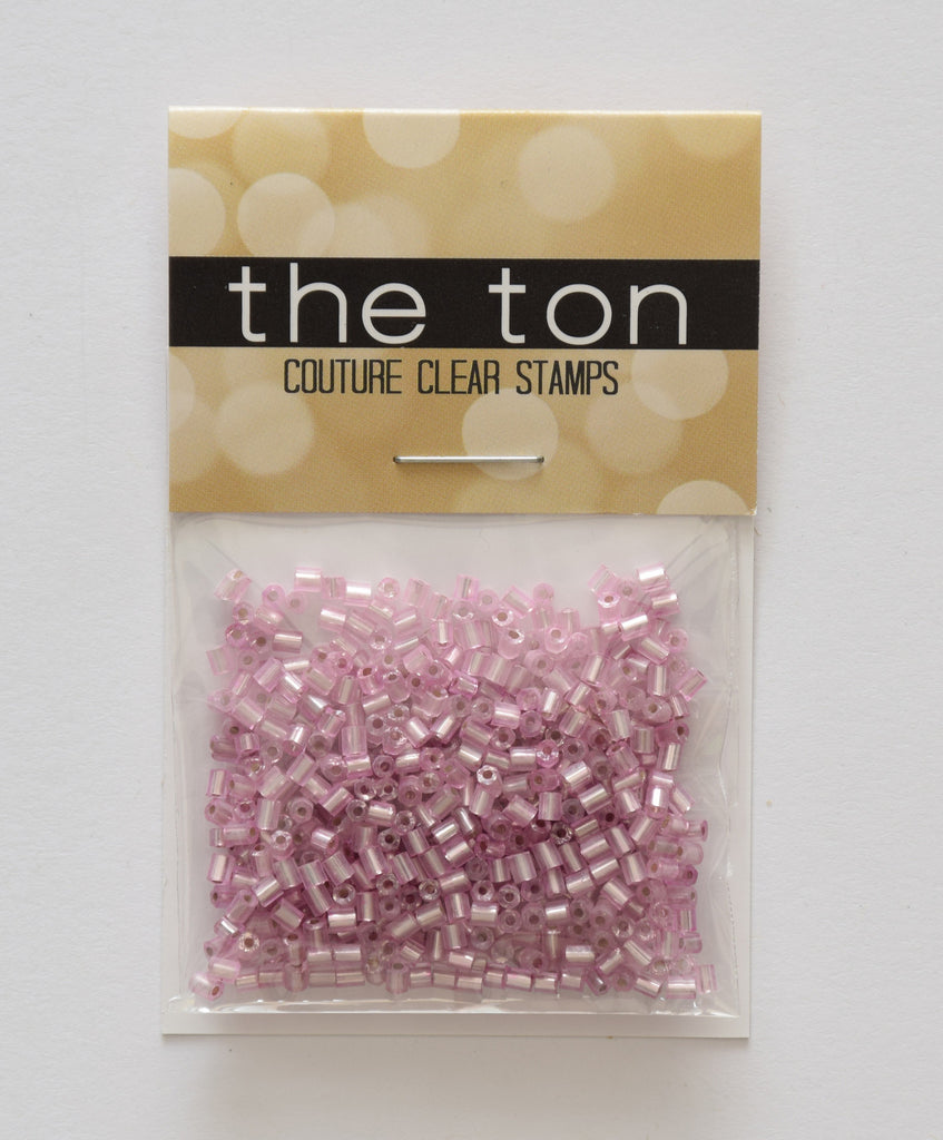 Light Rose Bugle Beads