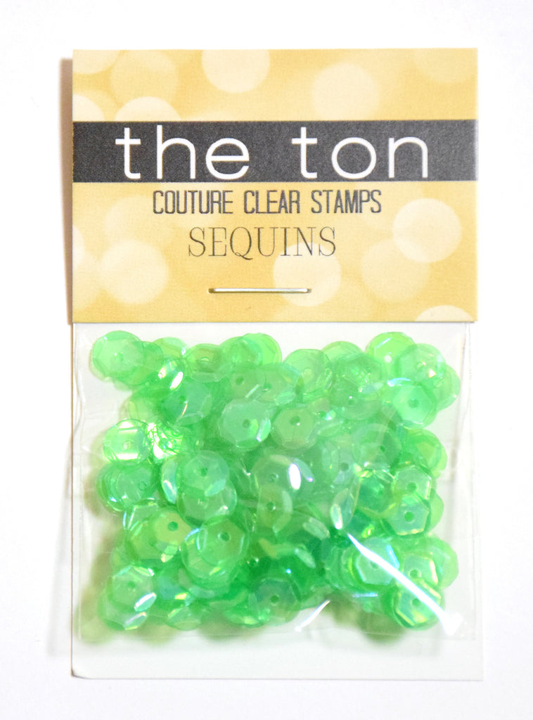 Mojito Sparkling Clear Sequins - 6mm, 4mm