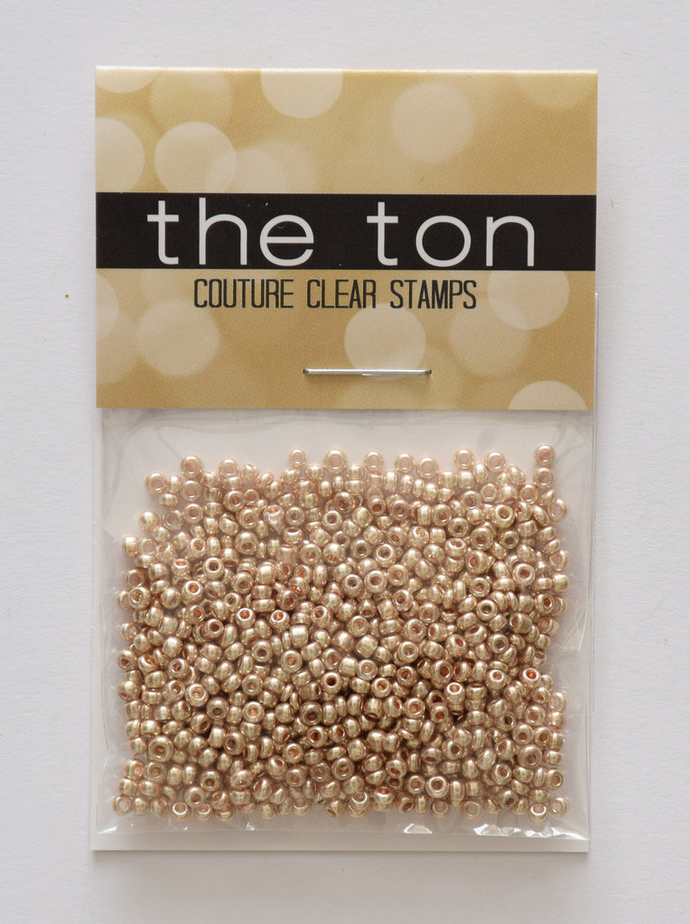 Light Rose Gold Seed Beads