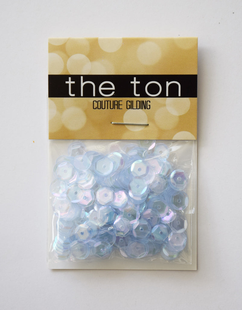 Light Sapphire Sparkling Clear Sequins - 8, 6, 4mm, Mixed