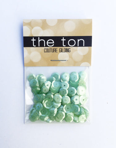 Green Tea Ice Cream Sequins - 8, 6, 5, 4mm, Mixed