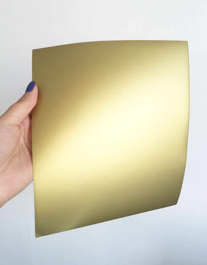 Adhesive Foil Paper - Matte Gold (7.9in x 9in)