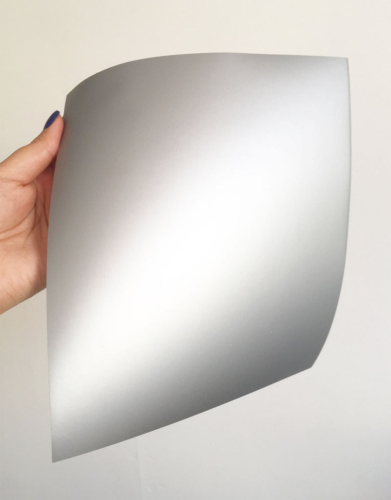 Adhesive Foil Paper - Matte Silver (7.9in x 9in)
