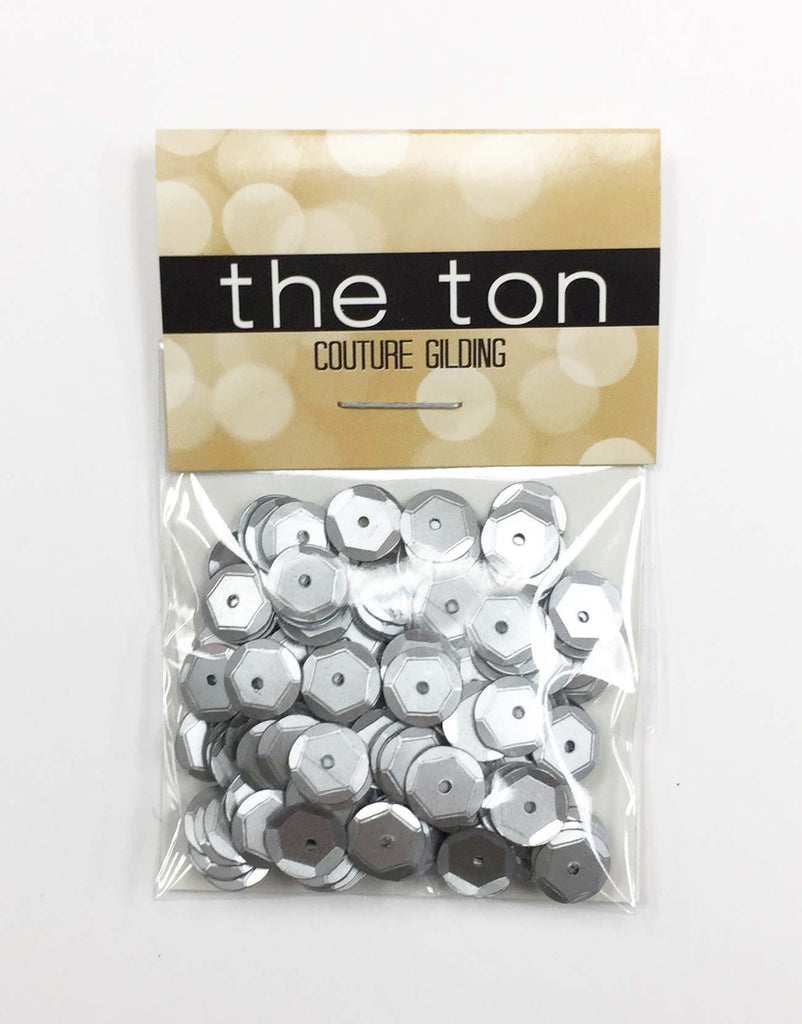 Matte Silver Sequins - 10, 8, 6, 5, 4mm, MIXED