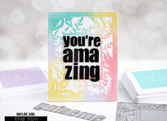 Bold Amazing Greeting Word Plate Dies