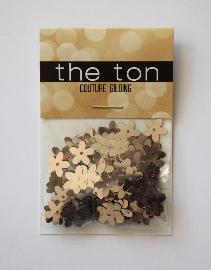 Metallic Taupe Large Flora Sequins
