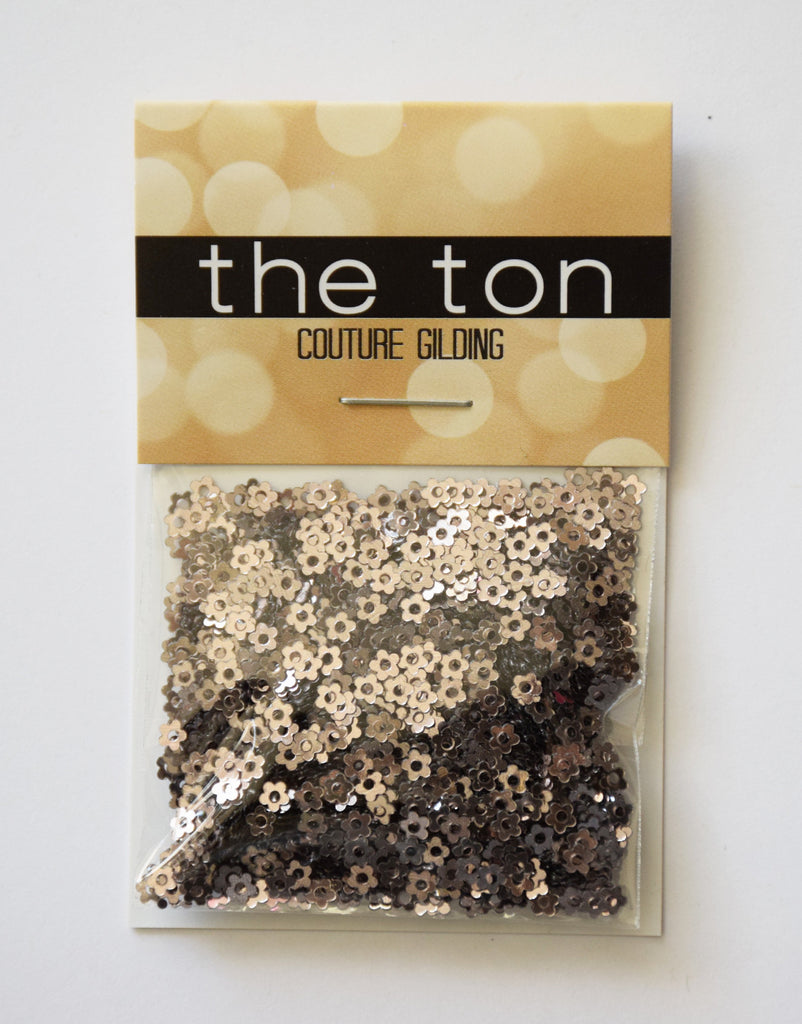 Metallic Taupe Mini Flora Sequins
