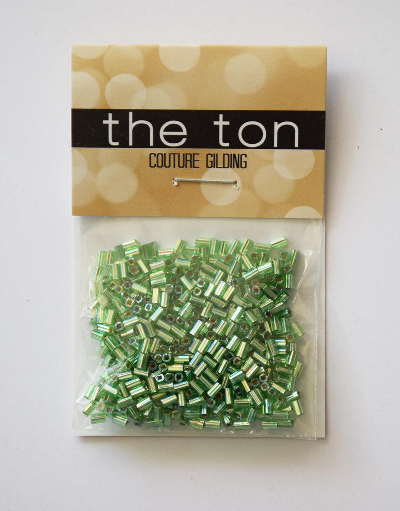 Metalline Fern Bugle Beads