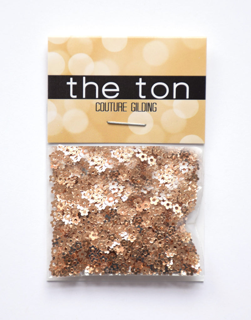 Metallic Gold Mini Flora Sequins