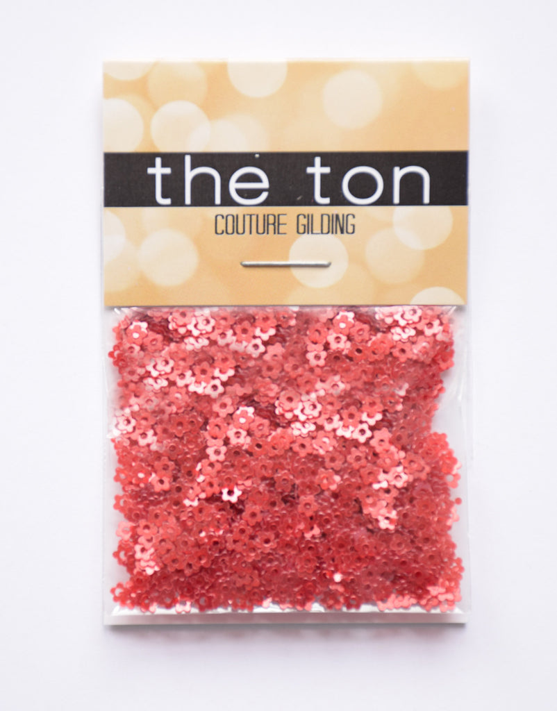 Red Mini Flora Sequins