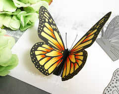Pop-Up Butterfly Dies - Monarch