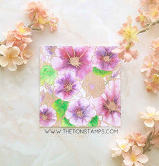 Morning Glory Garden Cling Background