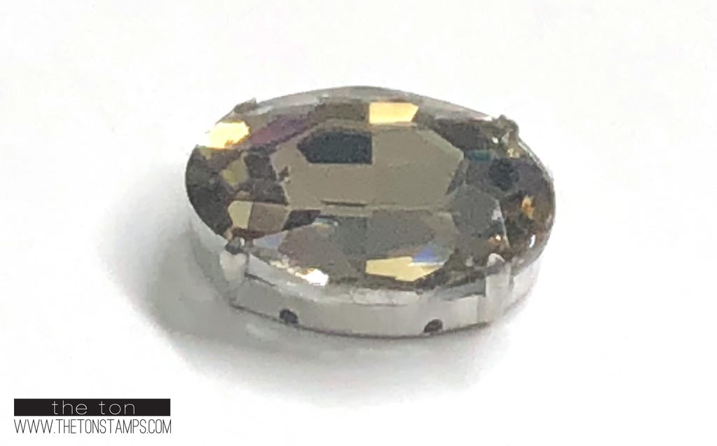 Glass Gems - Light Amber Oval