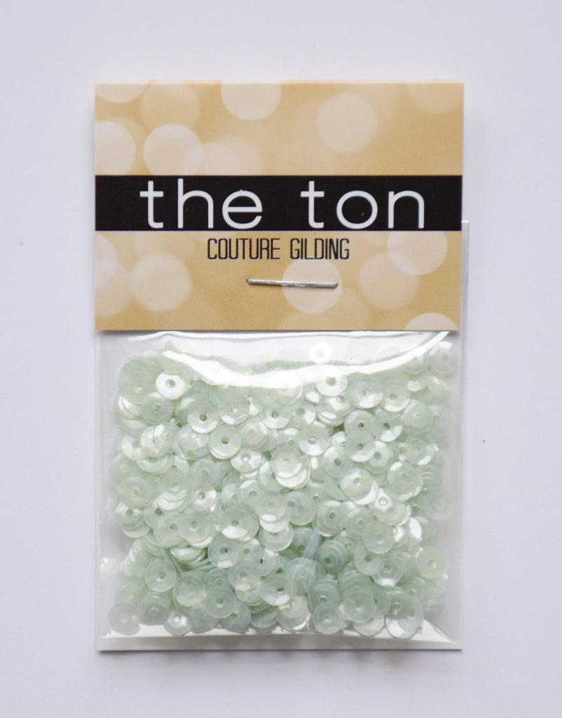 Pastel Mint Sequins - 4mm