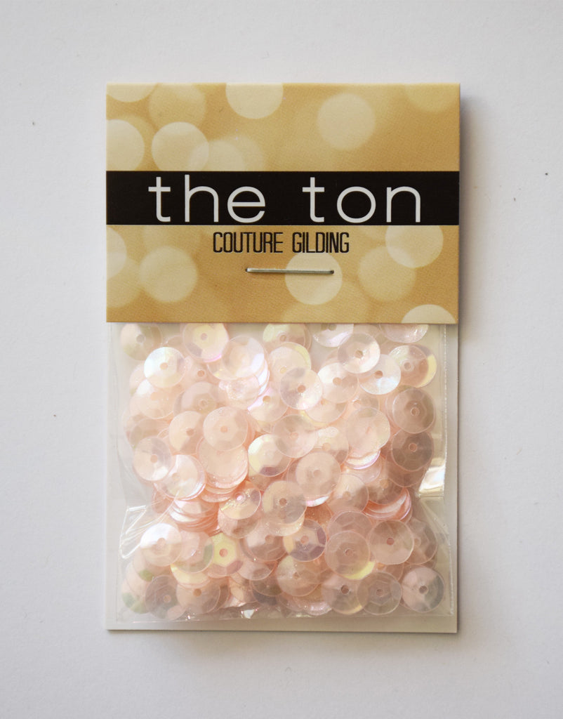 Peach Whisper Sequins- 6,4mm, Mixed