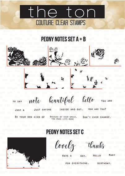 Peony Notes Bundle (Three 6x8 sets)