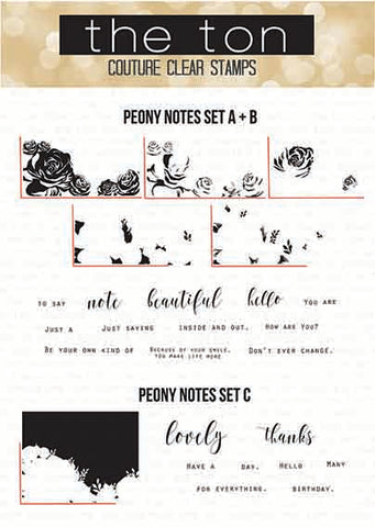 Peony Notes Bundle (Two 6x8 sets)