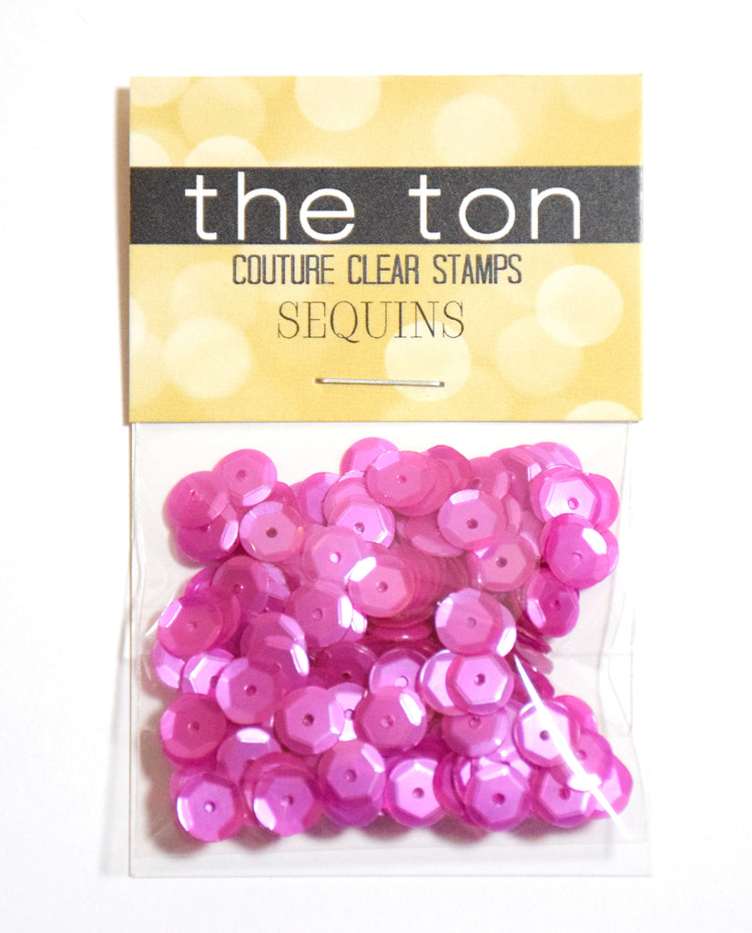 Queens Pink Sequins - 8, 6, 4mm, Mixed