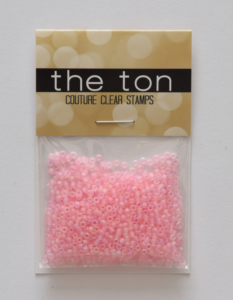 Pink Peach Matte Seed Beads