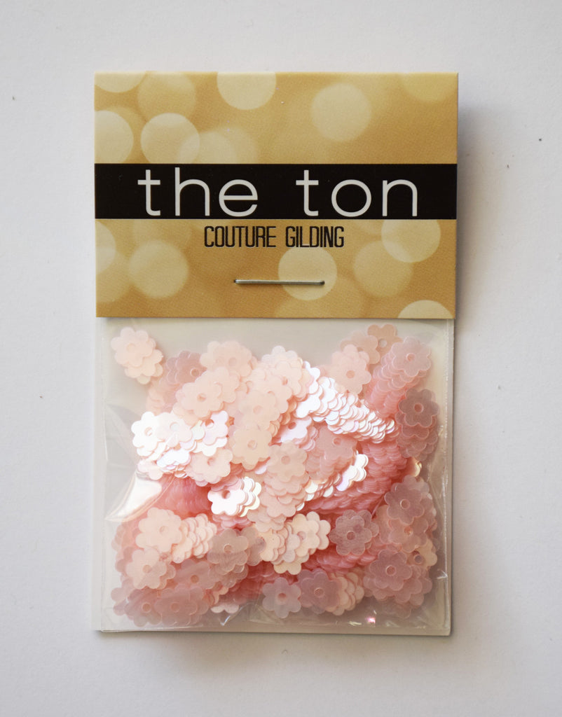 Pink Pearl Flora Sequins