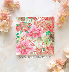 Poinsettia Garden Cling Background