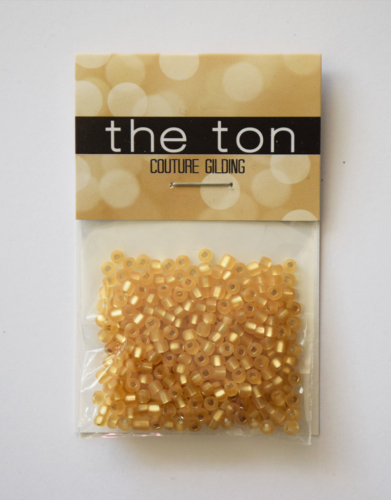 Polished Gold Large Matte Seed Beads