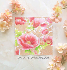 Poppy Garden Cling Background