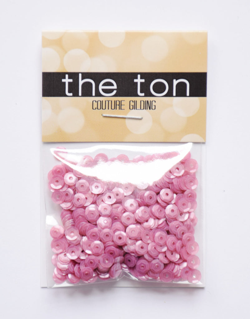 Raspberry Pink Sequins - 4mm