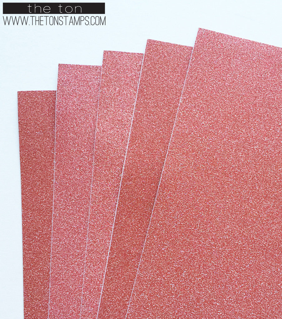 Adhesive Glitter Paper - Red