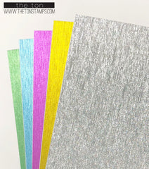 Adhesive Ribbed Glitter Paper - Mixed 1