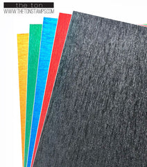 Adhesive Ribbed Glitter Paper - Mixed 2
