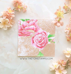 Rose Garden Cling Background