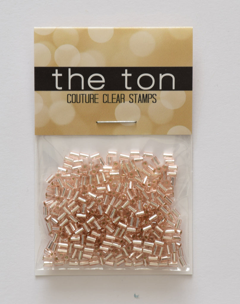 Rose Gold Bugle Beads