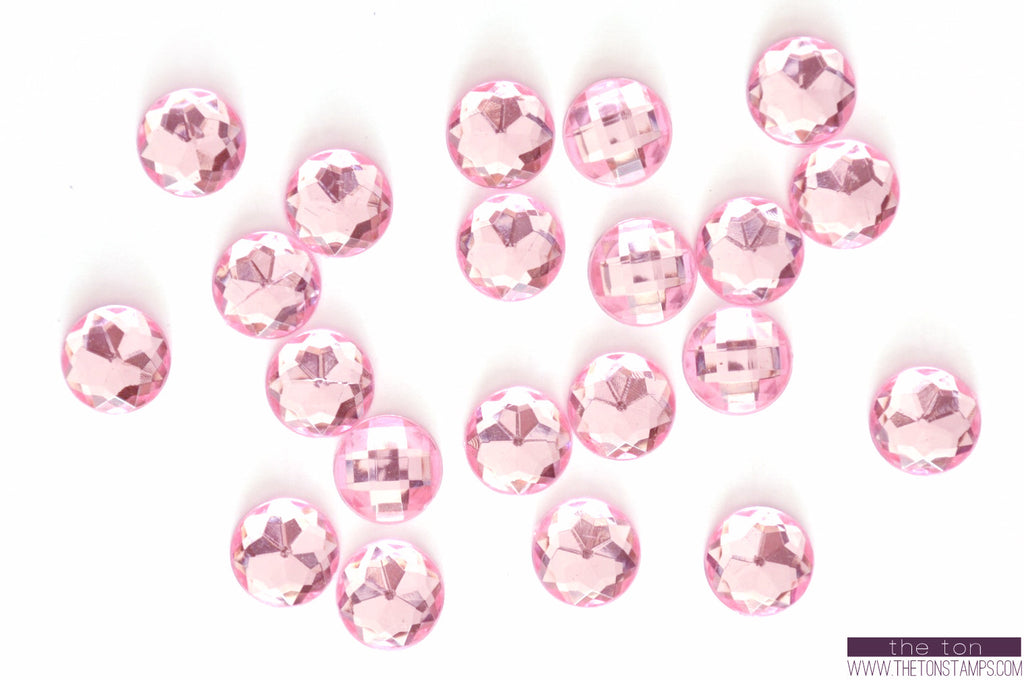 Light Pink Round Gems