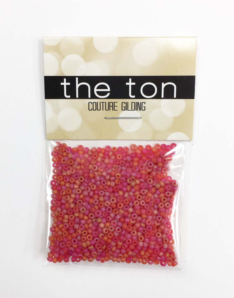 Ruby Punch Matte Seed Beads