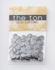 Shotgun Gray Sequins - 10, 8, 6, 5, 4mm, Mixed