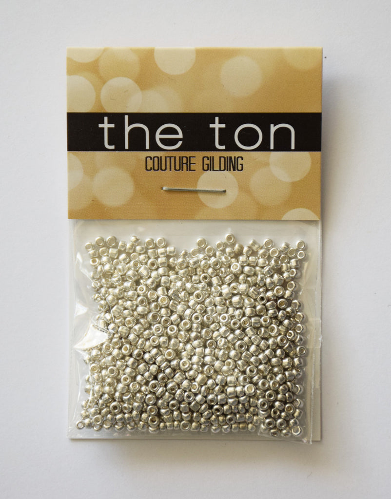 Bright Silver Bells Seed Beads
