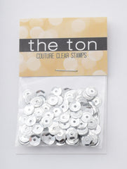 Silver Metallic Sequins - 10mm, 8mm, 6mm, 5mm, 4mm, MIXED