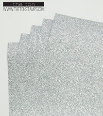 Adhesive Glitter Paper - Silver