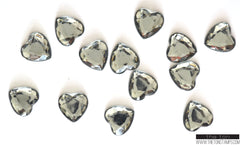 Dark Silver Heart Gems