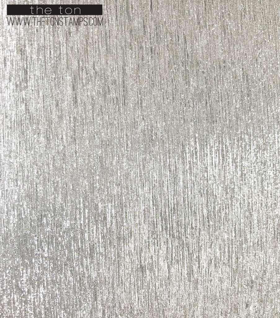Adhesive Ribbed Glitter Paper - Silver