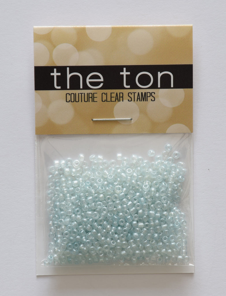Soft Blue Pearl Seed Beads