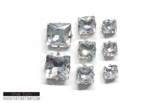 Glass Gems - Clear Square Mixed Package