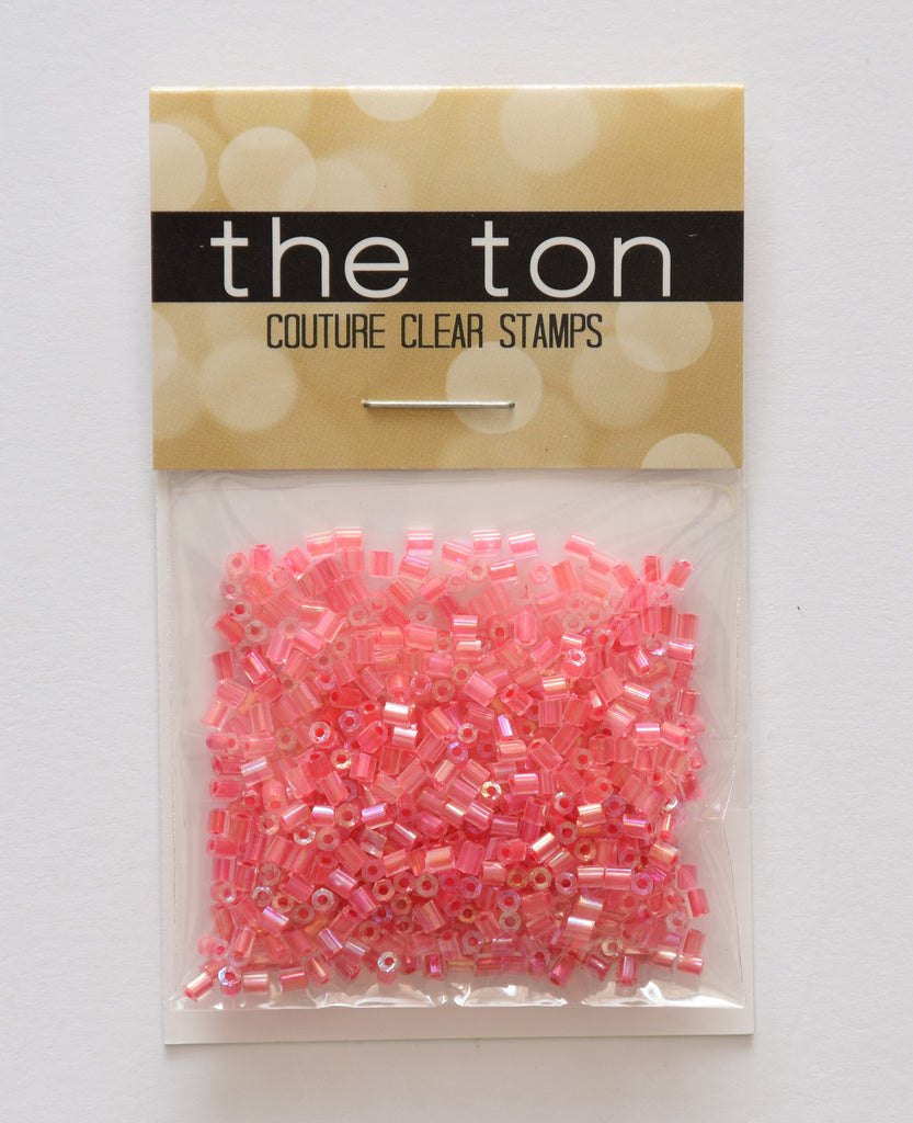 Strawberry Daiquiri Bugle Beads
