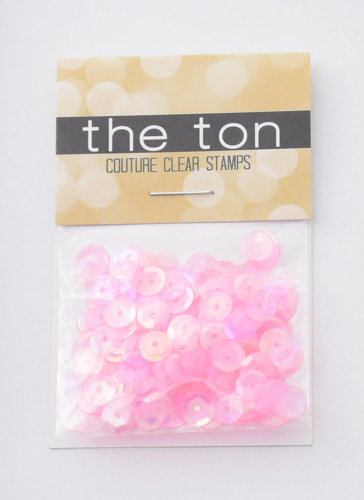 Pink Sugar Sparkling Clear Sequins - 8, 6, 5, 4mm, Mixed