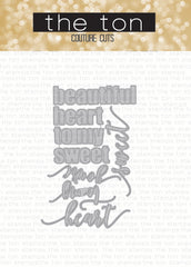 Sweetheart Word Plate Dies