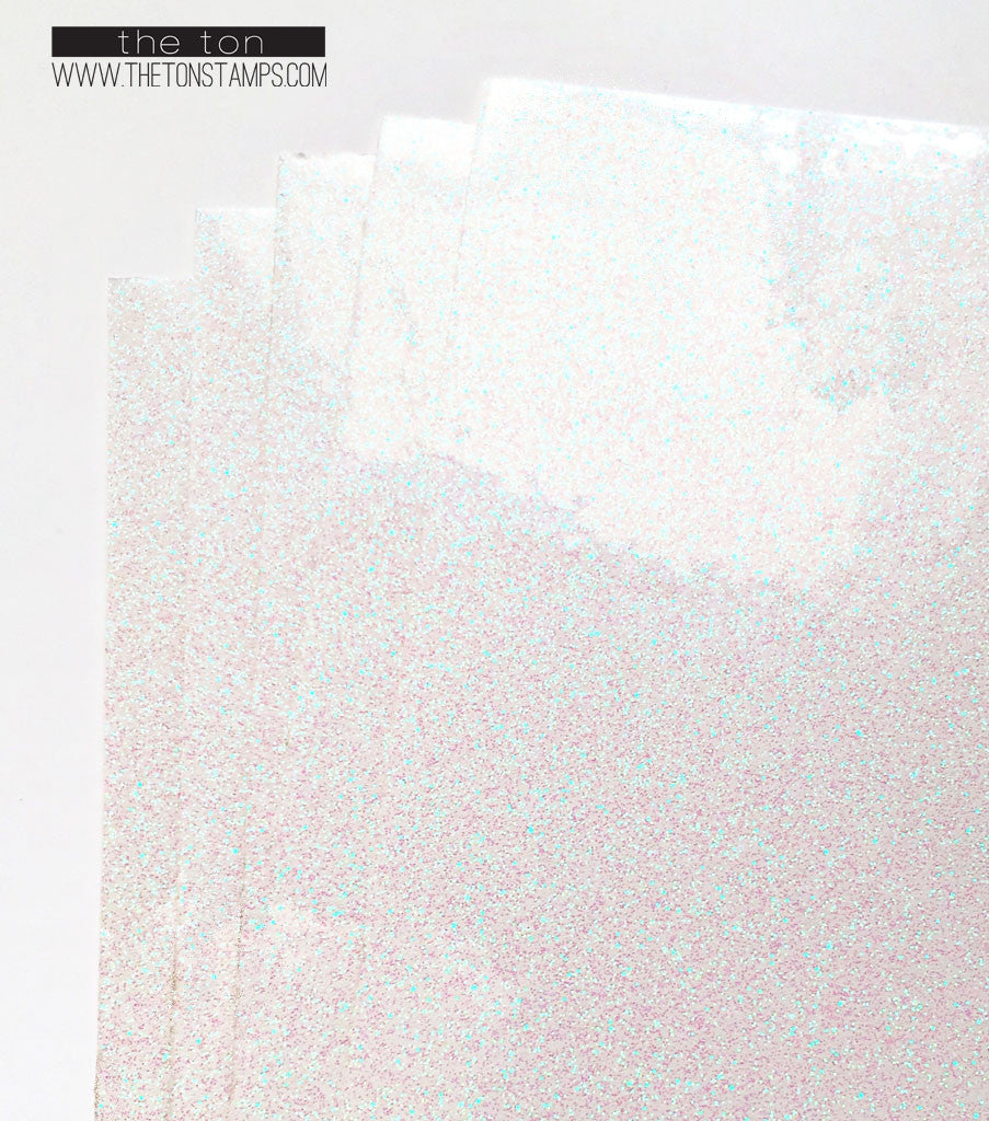 Adhesive Glitter Paper - Glossy Fine Transparent (7.9in x 9in)