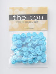 Turquoise and Caicos Sequins - 10, 8, 6, 5, 4mm, Mixed