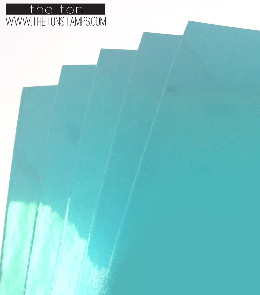 Adhesive Foil Paper - Turquoise (7.9in x 9in)