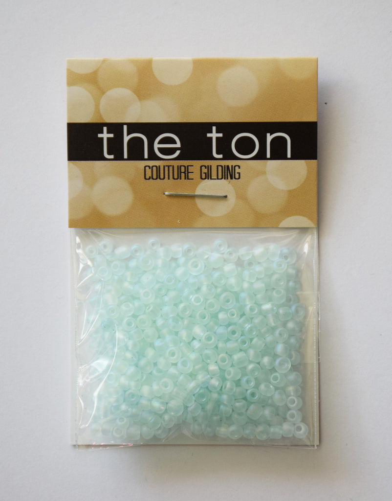 Teal Whisper Large Matte Seed Beads